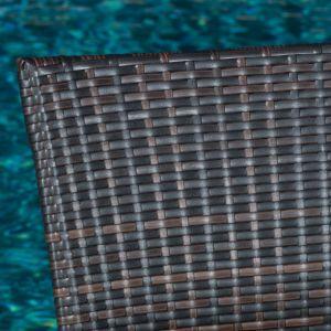 Well Furnir T-086 Outdoor Flat Rattan Weaven 5 Piece Seats Dining Set pictures & photos