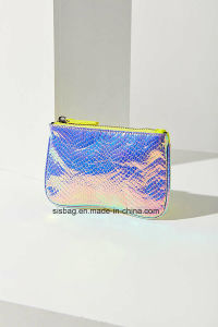 Designer Iridescent Pouch Snake PU Colorful Purse pictures & photos