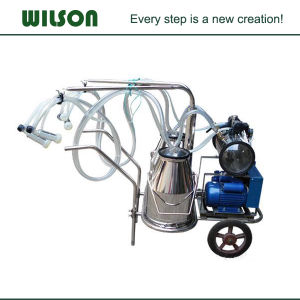 Electricity Engine Movable Cow Single Barrel Milking Machine pictures & photos
