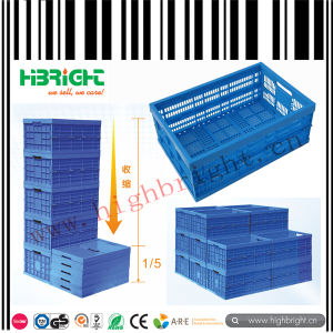 Mesh Holes Plstic Foldable Crate Bin for Fruit and Vegetable pictures & photos