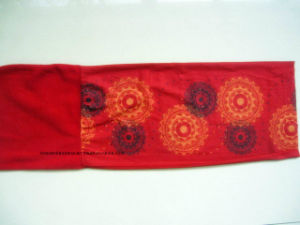 Custom Made Logo Printed Red Polar Fleece Winter Sports Snowboard Buff Headscarf pictures & photos