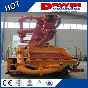 25 Meters New Station Truck Concrete Pump Boom Concret Delivery Pump Car Truck Mounted Concrete Boom Pump Sinotruck Chassis pictures & photos