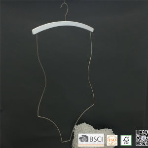 White Wooden Chrome Wire Swimwear Hanger for Bikini Wooden Clothes Hanger pictures & photos
