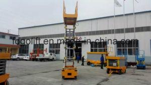Manual Mobile Scissor Lift Hydraulic Scissor Lift Platform Self-Propelled Lift Platform Price pictures & photos