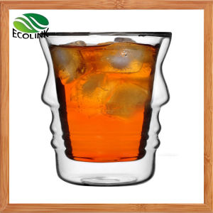 Heat-Resistant Double Wall Glass Cup 160ml 180ml pictures & photos