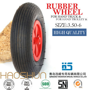 Hand Truck Trolley Tyre Pubarrow Rubber Wheel Tire 3.50-4 pictures & photos