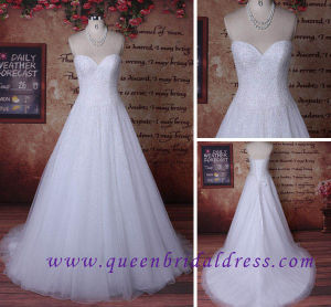 Hiqh Quality Sweetheart Neckline Wedding Dress with Heavy Crystal Beads