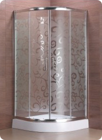 European Hot Selling Acid Etched Glass Shower Enclosure (S-9806-LI) pictures & photos