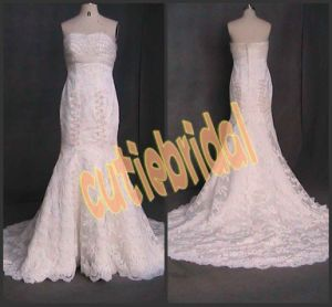 2012 New Mermaid Lace Wedding Dress Bridal Gown (CON011)