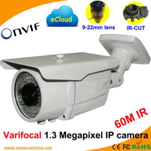 Weatherproof Varifocal 1.3 Megapixel Onvif Network IP Camera (60M IR) pictures & photos