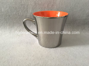 Metallic Ceramic Mug, New Shape Latte Mug, Ceramic Coffee Mug pictures & photos