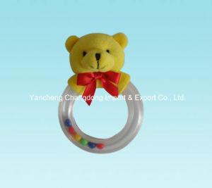 Plush Bear Baby Toys with Ring pictures & photos