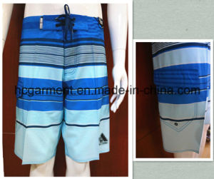 Strip Polyester/Cotton Board Shorts Quickly Dry for Man/Women pictures & photos