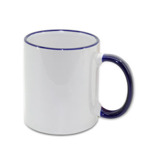 Wholesale Multicolor Handle and Rim Ceramic Mug 11oz Sublimation Printing Mug pictures & photos