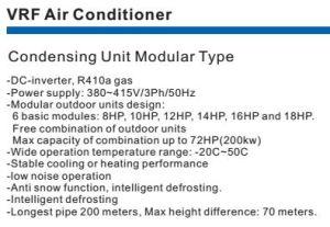 Condensing Unit Modular Type Vrf Air Conditioner pictures & photos