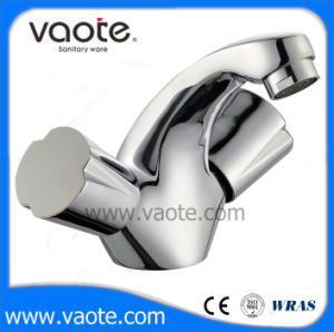 Double Handle Brass Body Basin Mixer (VT60503) pictures & photos