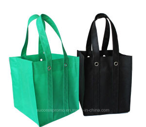 Durable Promotional Customized Logo Non Woven Wine Bag pictures & photos