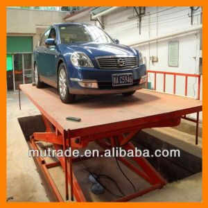 China Mutrade Customized Auto Vertical Lift Platform Scissor Car Elevator pictures & photos