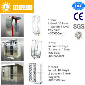 Mysun CE Ios Easy Safe Operation Stainless Steel Bread Rotary Rack Oven for Sale pictures & photos