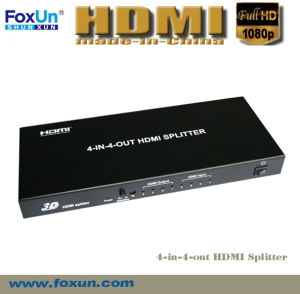 4 in 4 out HDMI Switch Support 3D at 1080p