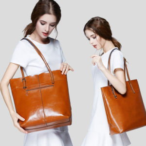 Lady Tote Bag Made of Genuine Leather pictures & photos