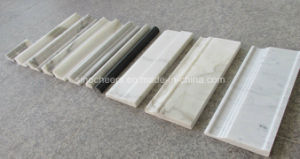 White Stone Tile Line Marble Floor Skirtings, Mouldings, Molding, Border pictures & photos