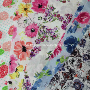 100%Cotton Voile Fabric for Apparels with Flower Printed (60X60/90X88) pictures & photos