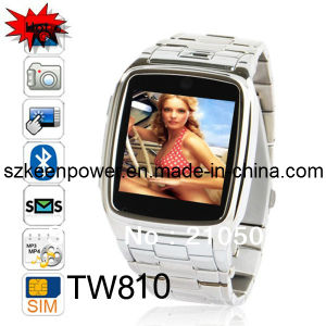 Tw810 Quad Band Camera Bluetooth Java GPRS 1.6-Inch Touch Screen Watch Phone Silver or Black pictures & photos