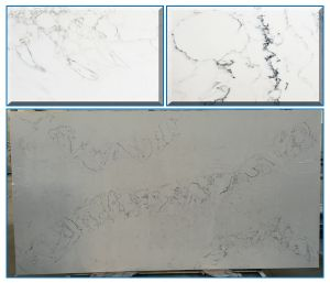 30mm Thickness Light Color Marble Look Artificial Quartz Countertops pictures & photos