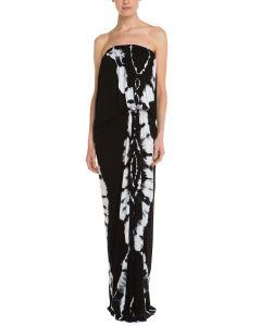 Ladies′ Tie-Dye Strapless Maxi Dress