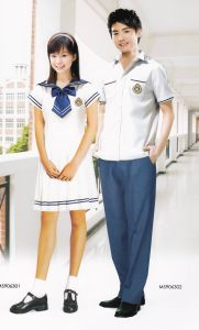 Middle School Uniform (Can Be Custom-Order 100% Cotton Fabric) -Sc003 pictures & photos