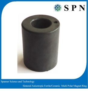 Permanent Ferrite Magnet Rings Sintered Multipole Motor Magnet pictures & photos