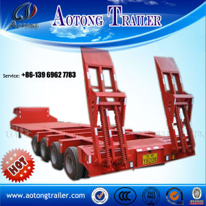 ISO CCC Approved 50-60tons Tri- Axle Lowboy Semi Trailer pictures & photos