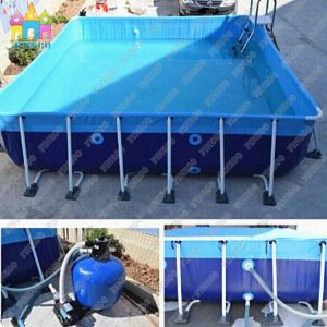 Funny Popular 0.9mm PVC Above Ground Steel Frame Pools pictures & photos