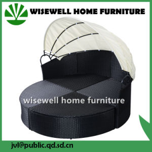 Wicker Rattan Round Sofa Furniture with 4 Seat (WXH-009) pictures & photos