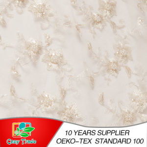 Embroidery Fabric for Wedding Dress, Banquet, Handcrafted Bead pictures & photos