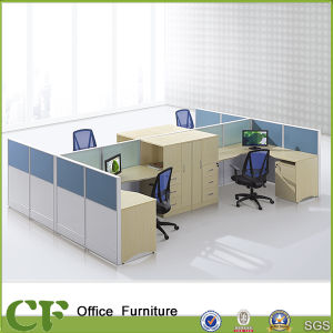 Classic Design Great Storage Wooden Office Cubicle for 4 Person pictures & photos