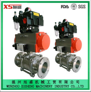 Stainless Steel Sanitary Explosion-Proof Pneumatic Actuator Ball Valves pictures & photos