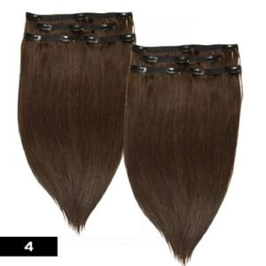 100% Russian Remy Human Hair Clips on Human Hair pictures & photos