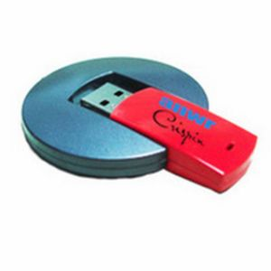 Round Shape Plastic USB Flash Drive with 16GB, 1.1/2.0 Interface pictures & photos