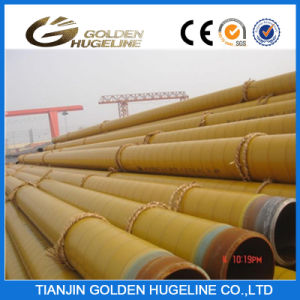 Yellow Glasswool Thermal Anti-Corrosion Layer Coated Steam Insulation Steel Pipe pictures & photos