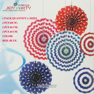 3 Sizes 6 Pieces Paper Fan Hanging Decoration pictures & photos