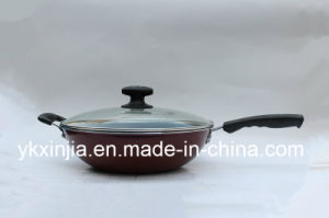 Cookware Carbon Steel Non-Stick Kitchenware Wok with Two Handles pictures & photos