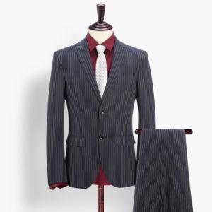 European Style Men Business Fashion Slim Fit Strip Suit pictures & photos