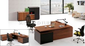 Hot Popular Boss Desktop Melamine Board Drawer Cabinet with White Steel Foot Offce Desk (SZ-OD301) pictures & photos