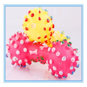 Eco-Friendly Soft Dumbbell Dog Toys with Sound pictures & photos