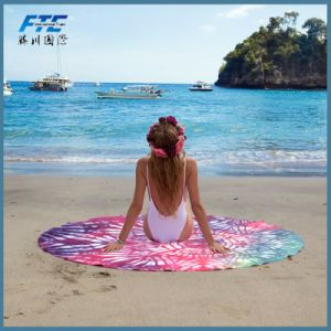 Microfiber Printed Tree Style Round Beach Towel pictures & photos