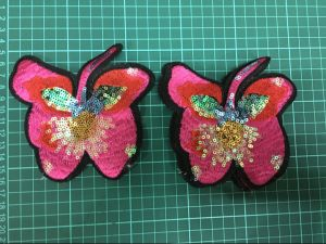 Butterfly Garment Accessories Sequins Patches Embroidery Patch Ym-016 pictures & photos