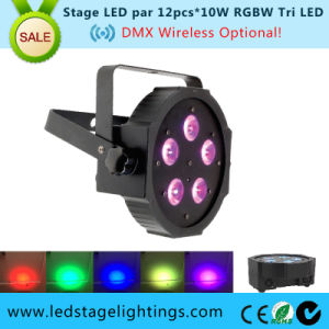 Adj Mega LED Flat PAR Light 5PCS*10W RGBW 4in1 LED DJ Light pictures & photos