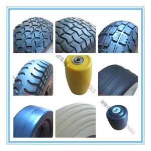 4 Inch Flat Free PU Foam Golf Cart Wheel pictures & photos